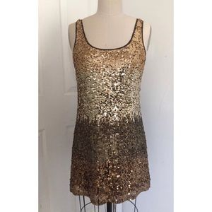 NEW NWOT Gold sequins dress